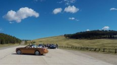 Traveling across Wyoming with Rolls Royce.